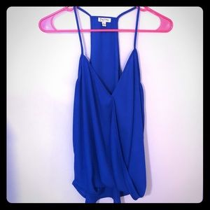 Dressy Blue Tank